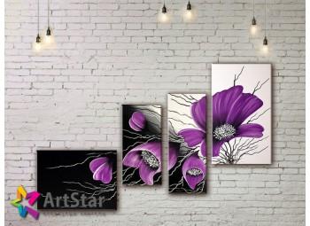 Модульные Картины, рисованные, маслом, Art. MKM17_4_011