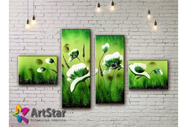 Модульные Картины, рисованные, маслом, Art. MKM17_4_017