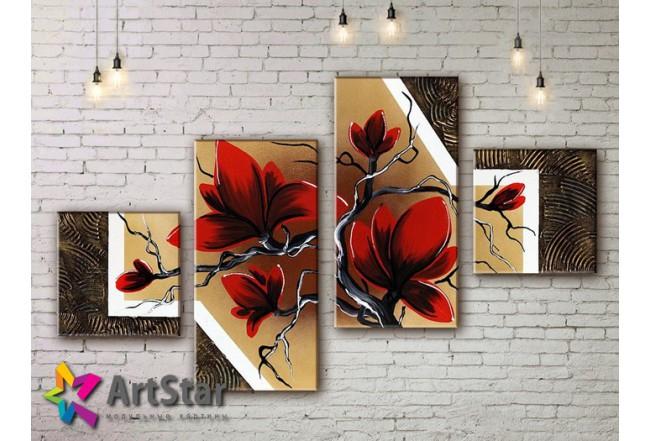 Модульные Картины, рисованные, маслом, Art. MKM17_4_023