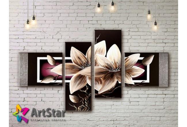Модульные Картины, рисованные, маслом, Art. MKM17_4_047