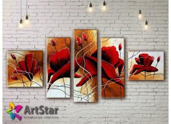 Модульные Картины, рисованные, маслом, Art. MHM17_5_046