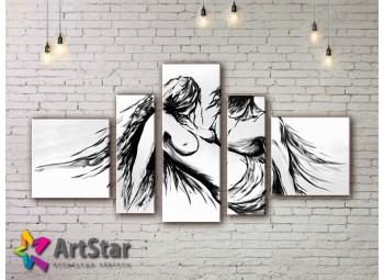 Модульные Картины, рисованные, маслом, Art. MHM17_5_055