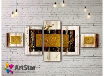 Модульные Картины, рисованные, маслом, Art. MHM17_5_084