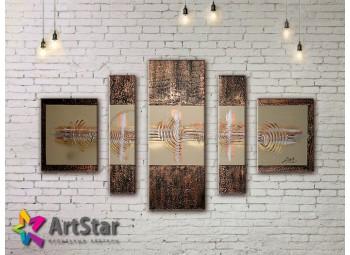 Модульные Картины, рисованные, маслом, Art. MHM17_5_094