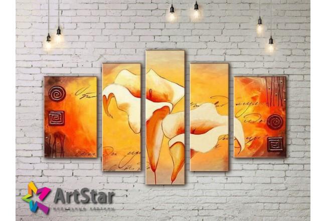 Модульные Картины, рисованные, маслом, Art. MHM17_5_104
