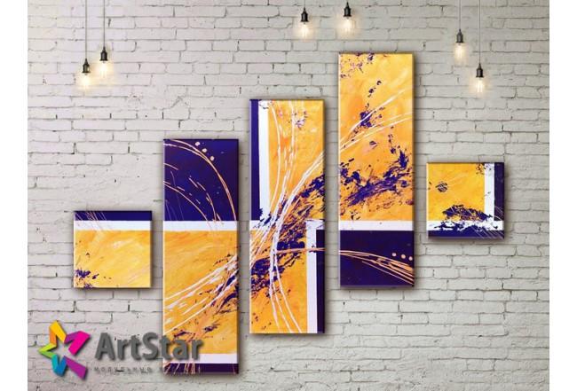 Модульные Картины, рисованные, маслом, Art. MKM17_5_001
