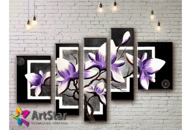 Модульные Картины, рисованные, маслом, Art. MKM17_5_005
