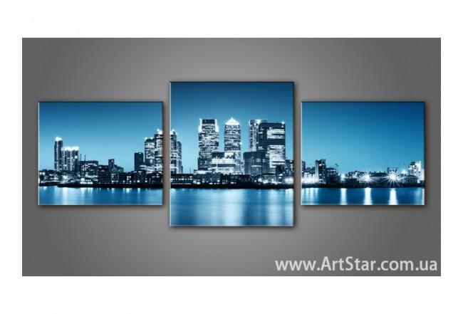 Модульная картина, город, купить, пейзаж