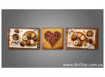 Модульная картина, Кофейный натюрморт 5 - SALE