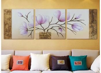Рисованная модульная картина Цветы 7