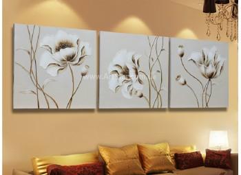 Рисованная модульная картина Цветы 8