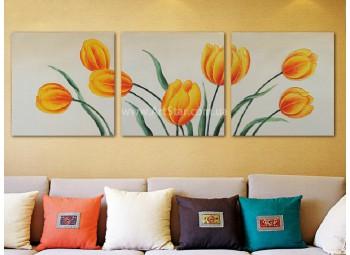 Рисованная модульная картина Цветы 10