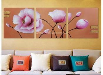 Рисованная модульная картина Цветы 11