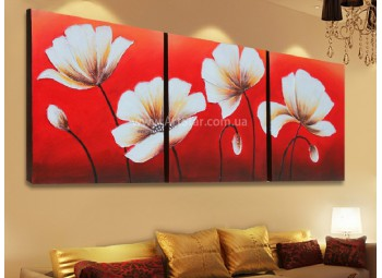Рисованная модульная картина Цветы 12