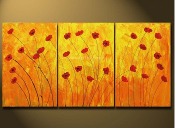 Рисованная модульная картина Цветы 32