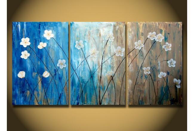 Рисованная модульная картина Цветы 33