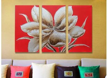 Рисованная модульная картина Цветы 46
