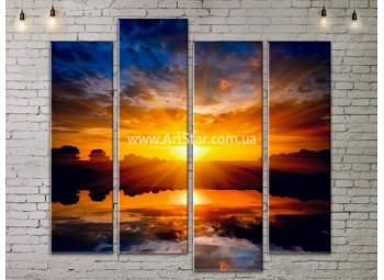 Модульные Картины, Морской пейзаж, Art. SEAA777101