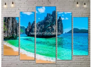 Модульные Картины, Морской пейзаж, Art. SEAA777143