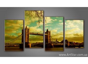 Модульная картина Панорама города Лондон (4)