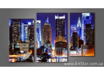 Модульная картина Панорама города