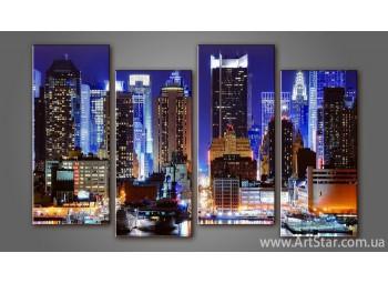 Модульная картина Панорама города (4)