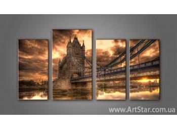 Модульная картина Панорама Лондона (4) 2