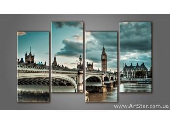 Модульная картина Панорама Лондона (4) 3