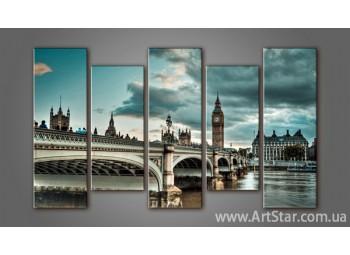 Модульная картина Панорама Лондона (5) 4