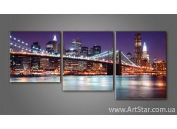 Модульная картина Бруклинский мост