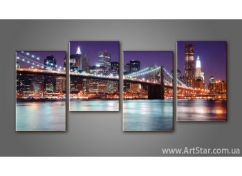Модульная картина Бруклинский мост (4)