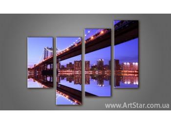 Модульная картина Бруклинский мост (4) 2