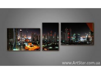 Модульная картина Панорама города 2