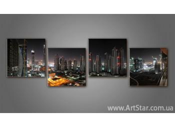Модульная картина Панорама города (4) 2