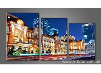 Модульная картина Панорама города 3