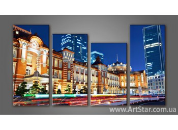 Модульная картина Панорама города (4) 3