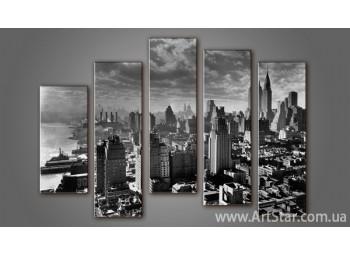 Модульная картина Панорама города (5) 4
