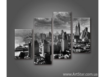 Модульная картина Панорама города (4) 4