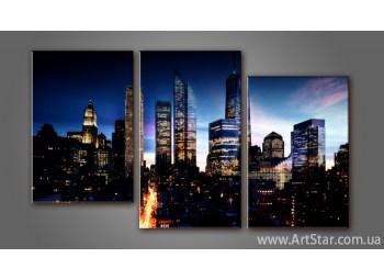Модульная картина Панорама города 5
