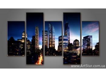 Модульная картина Панорама города (5) 5