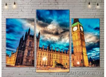 Модульные Картины, Город, Art. SITY787025
