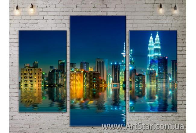 Модульные Картины, Город, Art. SITY787035