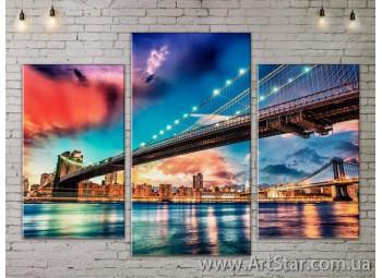 Модульные Картины, Город, Art. SITY787043