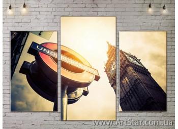 Модульные Картины, Город, Art. SITY787087