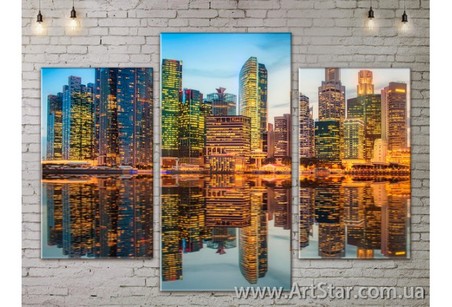 Модульные Картины, Город, Art. SITY787107