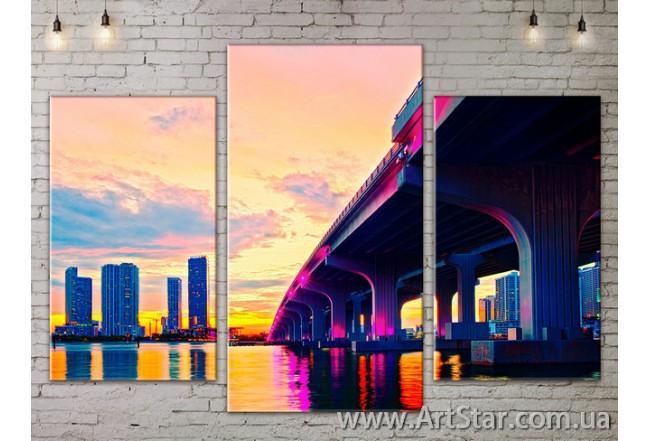 Модульные Картины, Город, Art. SITY787115