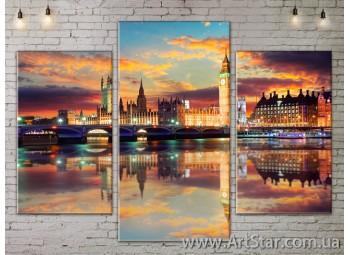 Модульные Картины, Город, Art. SITY787129