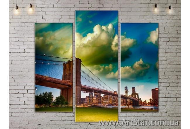 Модульные Картины, Город, Art. SITY787157