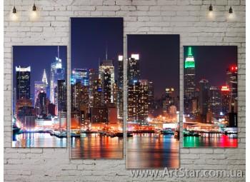 Модульные Картины, Город, Art. SITY787175