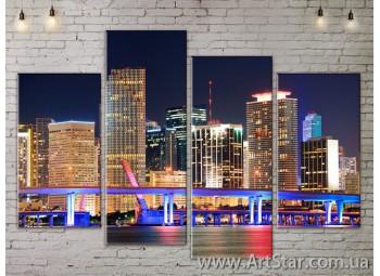 Модульные Картины, Город, Art. SITY787183